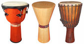 Djembe drums — Foto Stock