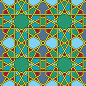 Arabic mosaic — Stock Vector