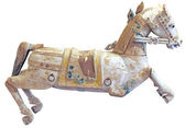 Old wooden horse — Foto Stock