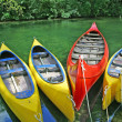 Stock Photo: Plastic canoes