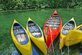 Plastic canoes — Stock Photo