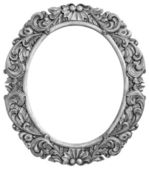 Antique silver plated frame — Stock Photo