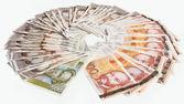 Delle banconote kuna croata — Foto Stock