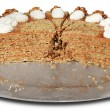 Cake with nuts — Stock Photo