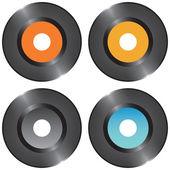 Set vinyl records — Stock Vector