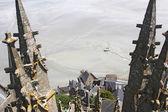 Towers Mountain Saint Michel — Stock Photo