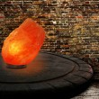 Himalayan salt as lamp — Stock Photo