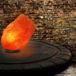 Himalayan salt as lamp — Stock Photo
