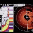 Stock Video: Marine GPS and sonar