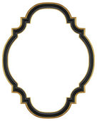 Marco dorado negro — Foto de Stock