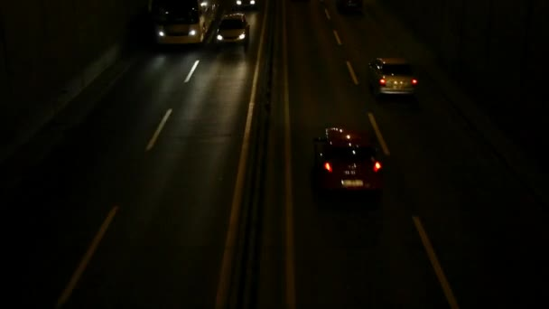 Coche de noche — Vídeo de stock