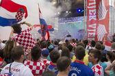 Appassionati di calcio croato — Foto Stock