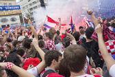 Croatian football fans — Foto de Stock