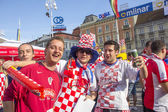 Croatian football fans — Photo