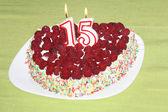 Birthday raspberry cake  — Foto de Stock