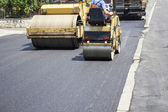 Asphalting roads — Stock Photo