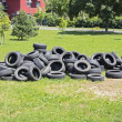 Old used tires — Stock Photo #49267407