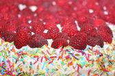Ciasto z malinami — Zdjęcie stockowe