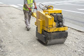 Vibration roller compactor — Stock Photo