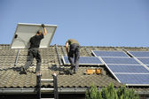 Photovoltaic panals installation — Stock Photo