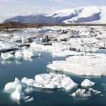 Icebergs, Joekulsarlon, glacier lagoon — Stock Photo