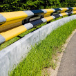 Stock Photo: Guardrail with protection for motorcyclists