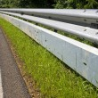 Guardrail with protection for motorcyclists — Stock Photo