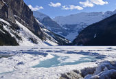 Rocky mountains, lake louise in de winter — Stockfoto