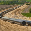 Stock Photo: Pipeline construction