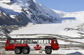 Columbia icefield, is explorer — Stockfoto