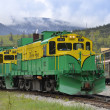 White Pass and Yukon Railway, Skagway, Alaska - Stock Photo