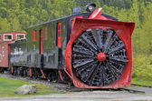 Old snowplough train — Stock Photo