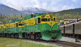 White Pass and Yukon Railway, Skagway, Alaska — Stockfoto