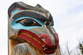 Totem pole, wolf — Stock Photo