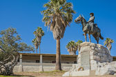 Windhoek, equestrian memorial — Stock Photo