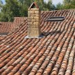 Roof with old Mediterranean tiles — Stock Photo