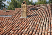 Roof with old Mediterranean tiles — Stock fotografie