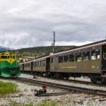 ホワイト ・ パス ・ ユーコン鉄道、スカグウェイ, アラスカ — ストック写真