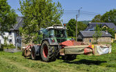 Haymaking, tractor — Stock Photo