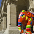 Paiperphant, elephant parade, Luxembourg City — Stock Photo