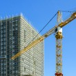 Building construction site with crane — Stock Photo