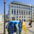 Elephant parade, Luxembourg City — Stock Photo