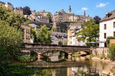 Luxembourg City, Grund, bridge over Alzette river — Stock fotografie