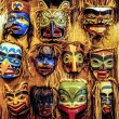 Native American masks — Stock Photo