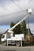 Fixing a power line — Stock Photo