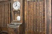 Punch clock, time recorder — Stok fotoğraf