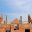 Stock Photo: Construction of a home building