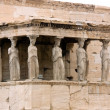 Parthenon temple on Acropolis, Athens, Greece on white background - Stock Photo