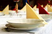 Hochzeit bankett-tisch — Stockfoto