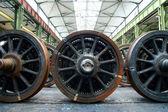 Pociąg koło naprawy zakładu przemysłowego — Zdjęcie stockowe